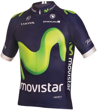 Endura Movistar Team Replica Short Sleeve Cycling Jersey AW16