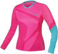 Image of Endura SingleTrack II Womens T Long Sleeve Cycling Jersey SS16