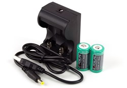 Image of Exposure USB Charger with 2xRCR123 Batteries