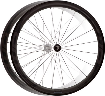Image of Fast Forward F4R Full Carbon Clincher DT240 Black Edition Wheelset