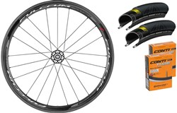 Image of Fulcrum Racing Quattro Carbon 40mm Clincher Road Wheelset