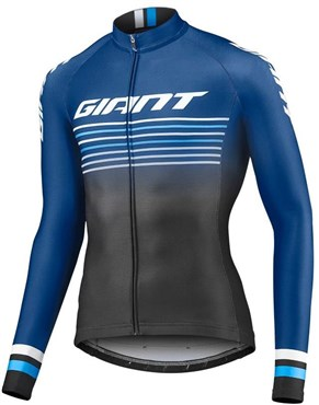 Image of Giant Race Day Long Sleeve Full Zip Cycling Jersey
