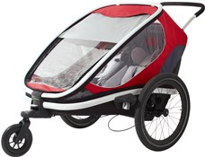 Image of Hamax Outback Child Transport Trailer With Stroller Wheels - 2 Children