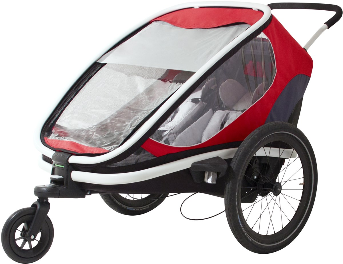 Hamax Outback Child Transport Trailer With Stroller Wheels - 2 Children