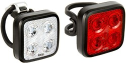 Image of Knog Blinder Mob Four Eyes Twinpack USB Rechargeable Light Set
