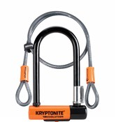 Image of Kryptonite Evolution Mini 7 Lock with 4 Foot Kryptoflex Cable and FlexFrame Bracket