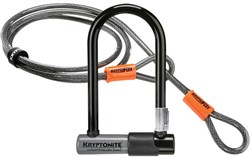 Image of Kryptonite KryptoLok Series 2 Mini U-lock with FlexFrame Bracket