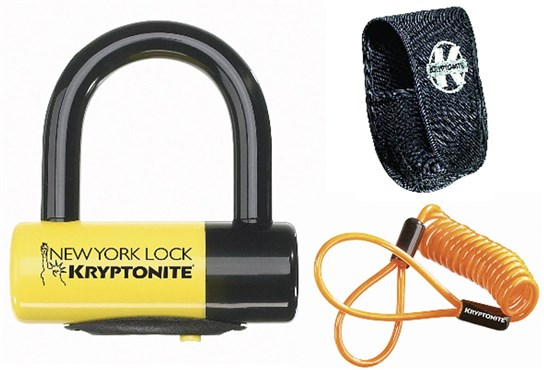 Image of Kryptonite New York Liberty Disc Lock With Reminder Cable