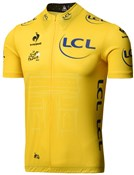 Image of Le Coq Sportif Tour de France Yellow Leaders Short Sleeve Cycling Jersey 2015