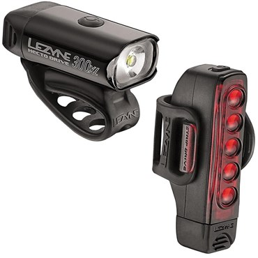 Image of Lezyne Hecto Drive 300XL/Strip Front/Rear USB Rechargeable Light Set