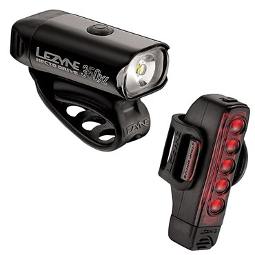 Image of Lezyne Hecto Drive 350XL/Strip USB Rechargeable Light Set