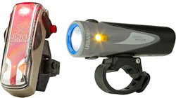 Image of Light and Motion Urban 800 Anchor Steam & Vis 180 Bronze Twinpack Rechargeable Light Set
