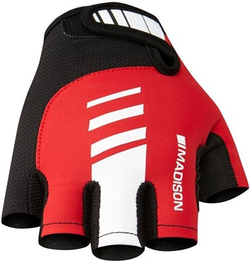 Image of Madison Peloton Mens Mitts Short Finger Cycling Gloves AW16