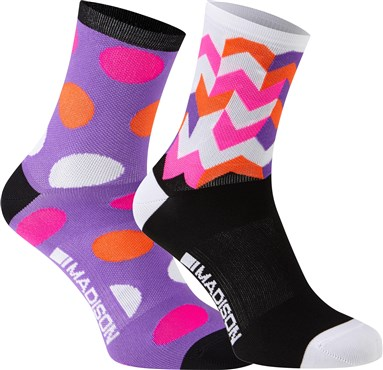 Image of Madison Sportive Womens Mid Socks AW16 - Pack of 2