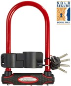 Image of Master Lock Street Fortum Sold Secure Bicycle Gold D-Lock