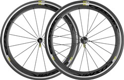 Image of Mavic Cosmic Pro Carbone Road Clincher Wheels - Black Decal 2016