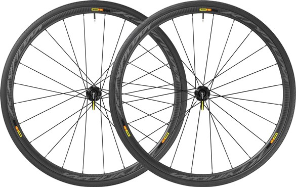 Image of Mavic Ksyrium Pro Carbone SL T Tubular Centre Lock Disc Road Wheels 2017