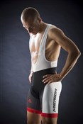 Image of Merida Red Trieste Design 6 Panel Cycling Bib Short 2014