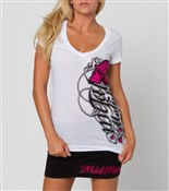 Image of Metal Mulisha Real Love V-Neck Womens T-Shirt