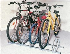 Image of Mottez 5 Bike Floor Mount Storage Rack