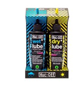 Image of Muc-Off Lube Wet and Dry 120ml Twinpack