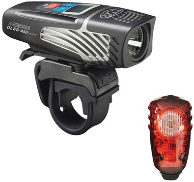 NiteRider Lumina OLED 950 Boost/Solas 100 Combo USB Rechargeable Light Set