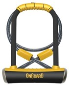 Image of OnGuard Pitbull Lock Shackle U-Lock Plus Cable - Gold Sold Secure Rating
