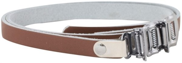 Image of One23 Toe Clips with Leather Straps