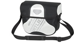 Image of Ortlieb Ultimate 6 Black n White Handlebar Bag With Magnetic Lid