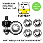 Image of Pinhead Solid Axle Wheel/Seatpost Lock Pack