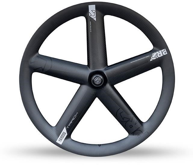 Pro Carbon Track 5-Spoke Front Tubular Wheel With Shimano Dura-Ace Track Hub