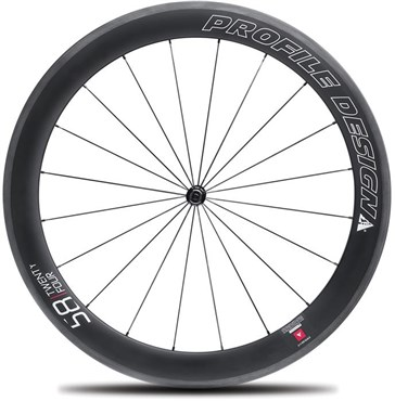 Image of Profile Design 58 Twenty Four Full Carbon Clincher Wheel - Front