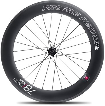 Image of Profile Design 78 Twenty Four Full Carbon Clincher Wheel - Rear