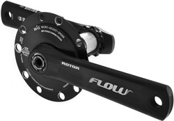 Image of Rotor Inpower Flow 130 BCD Mas Power Meter Crankset - NO Chainrings