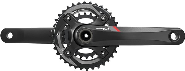 Image of SRAM SRAM Crank GX 1400 GXP 2x11 170 Red 36-24 (GXP Cups Not Included)