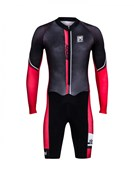 Image of Santini Dirt Shell Cyclo Cross Fleece Aquazero Body Suit With GIT Pad AW17