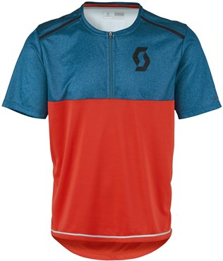 Image of Scott Trail Flow Mel Q-Zip Short Sleeve Cycling Jersey