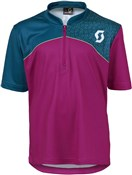 Image of Scott Trail Flow Q Zip Short Sleeve Junior Cycling Jersey