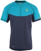 Image of Scott Trail MTN Polar Q-Zip Short Sleeve Cycling Jersey