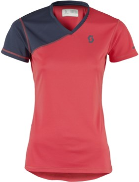 Image of Scott Trail MTN V Neck Short Sleeve Womens Cycling Jersey