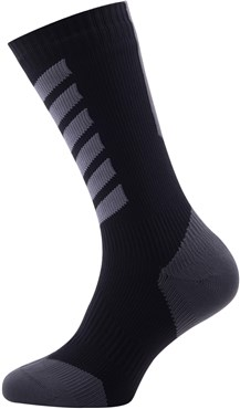 Image of SealSkinz MTB Cycling Mid Mid Socks with Hydrostop AW16