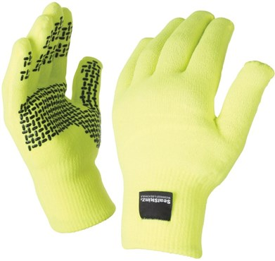 SealSkinz Ultra Grip Hi-Viz Waterproof Long Finger Gloves