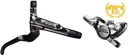 Image of Shimano BR-M9000 XTR bled I-spec-II ready brake lever / Post mount calliper - rear