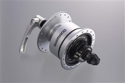 Image of Shimano DH-3N72 6v 3.0w Quick Release Dynamo Front Hub For Use With Rim Brakes - 36h