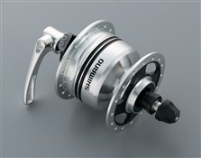 Image of Shimano DH-3N80 6v 3.0w Quick Release Dynamo Front Hub For Use With Rim Brakes - 32h
