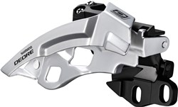Image of Shimano Deore M612-E Triple Front Derailleur With Side Swing and Front Pull