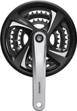 Image of Shimano FC-TX801 Tourney Triple Chainset Without Chainguard