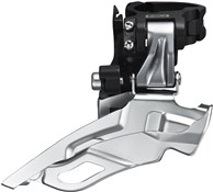 Image of Shimano FD-M611 Deore 10 Speed Triple Front Derailleur Conventional Swing Dual Pull