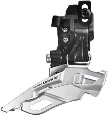 Image of Shimano FD-M611 Deore 10 Speed Triple Front Derailleur With Top-pull and Direct-fit