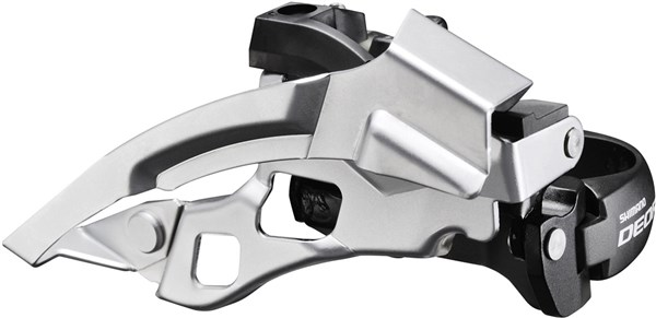 Image of Shimano FD-T610 Deore Front Derailleur - Top-Swing - Dual-Pull And Multi Fit - 66-69 Degrees